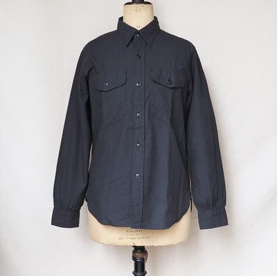 ジャンゴ アトゥール レギュラーワークシャツ ブラック(リップストップ)