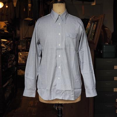 ジャンゴ アトゥール ドレスシャツ <アナザーライン> グレー×ホワイト Lサイズ