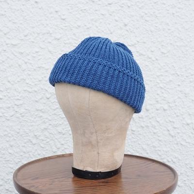 ダッパーズ クラシカル アーミースタイル ニットキャップ LOT1216 ブルー