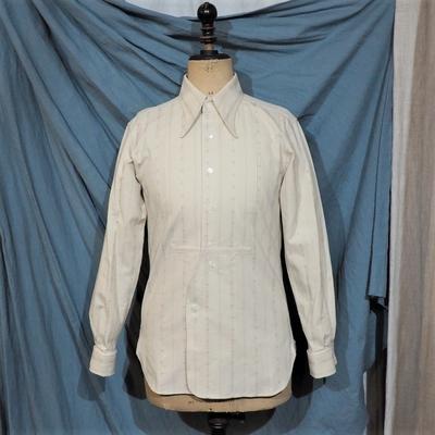 アジャスタブルコスチューム×フランボヤント アーチド ロングポイント カラー シャツ