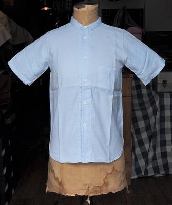 ジャンゴアトゥール ポストマン ワーク 半袖 シャツ サックス Lサイズ