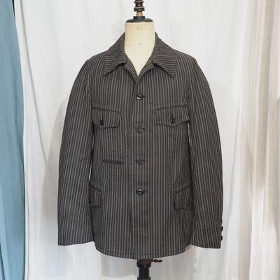 アジャスタブルコスチューム オリジナル ヘリンボーンストライプ フレンチ ワークスタイル ジャケット