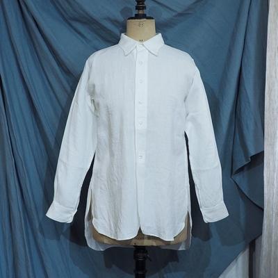 ジャンゴ アトゥール クラシック リネン テイラーシャツ<AL> ホワイト