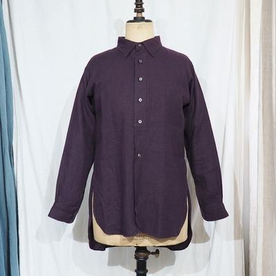 ジャンゴ アトゥール クラシック リネン テイラーシャツ<AL>パープル