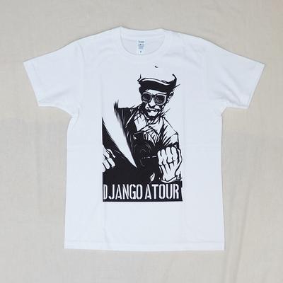ジャンゴアトゥール 十周年 プリント Tシャツ ワーク  ホワイト