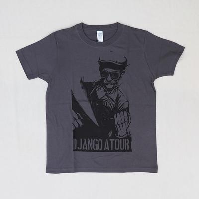 ジャンゴアトゥール 十周年 プリント Tシャツ ワーク  チャコール XSサイズ