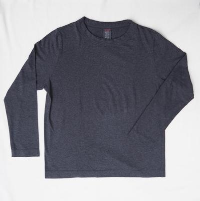 ホームスパン 長袖無地 Tシャツ 2014 ダークチャコール