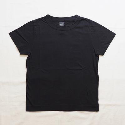ホームスパン 半袖無地Tシャツ 2018 ブラック