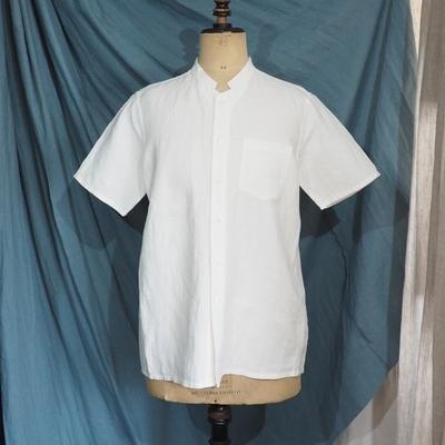 ジャンゴ アトゥール ベルギーファーマーズ ハーフスリーブ リネンシャツ フレンチホワイト