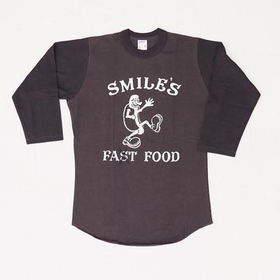 """フリーホイーラーズ ロンT """"SMILE'S DOG WAGON"""" JET BLACK×SHADY BLACK Mサイズ"""