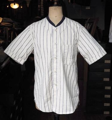 フリーホイーラーズ ベースボールシャツ NATURAL×NAVY