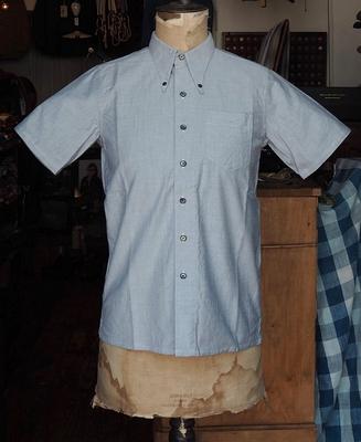 ジャンゴ アトゥール クラシック ポロカラー H/S シャツ ライトグレイ Sサイズ