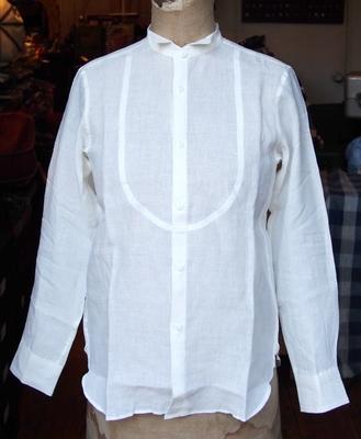 ジャンゴアトゥール リネン プチ ウィングカラー シャツ ホワイト(2015)