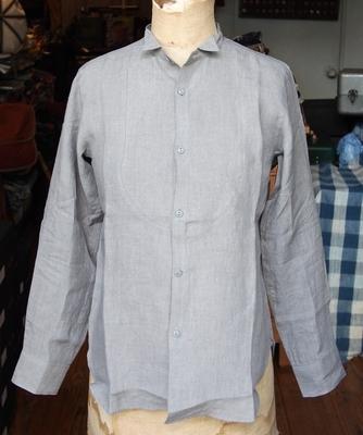 ジャンゴアトゥール リネン プチ ウィングカラー シャツ グレイ(2015)