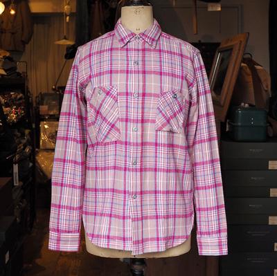 ジェラード ライトネルシャツ ショート丈 ピンク Mサイズ