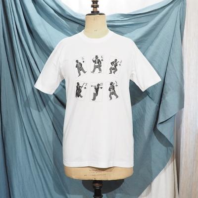 ジャンゴ アトゥール バンド ティー シャツ ホワイト