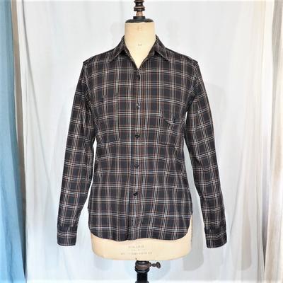 ジェラード スモーカーシャツ  タータンチェック ブラック