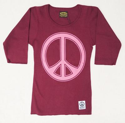 ジェラード ピース サーマル 5分Tシャツ パープル XSサイズ