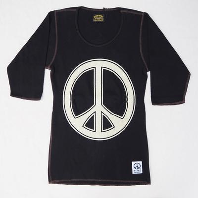 ジェラード ピース サーマル 5分Tシャツ ブラック Mサイズ