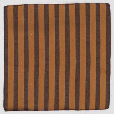 アジャスタブルコスチューム シルク ジャカード ポケットスクェア ブラウン