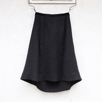 ラ・ガルボ LG-B03 ヴィクトリアンズ ブラックリネン スカート