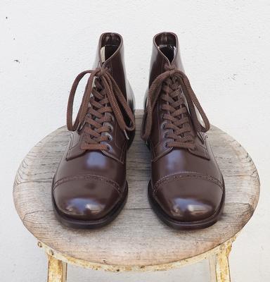 ウォークオン ストレート チップ ブーツ ダークブラウン