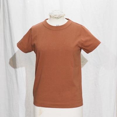 ホームスパン 半袖無地Tシャツ 2020 ブラウン