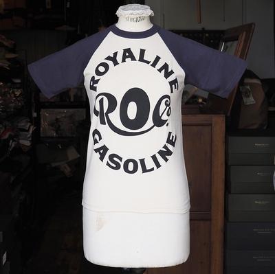 """ブートレガーズ Tシャツ """"ROYALINE"""" STRAW CREAM×FADE NAVY"""