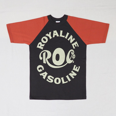 "ブートレガーズ Tシャツ ""ROYALINE"" JET BLACK×ADOBE RED Youth M"