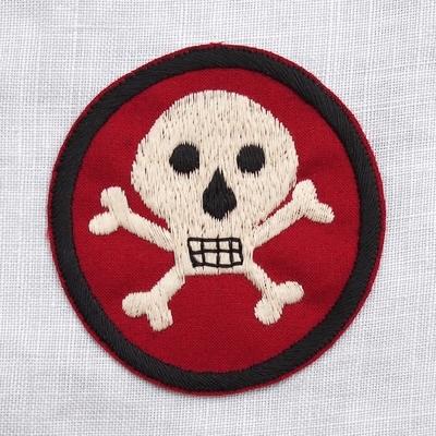 """フリーホイーラーズ カスタムパッチ """"Skull&Bones"""" サイズ:8.7cm×8.2cm"""