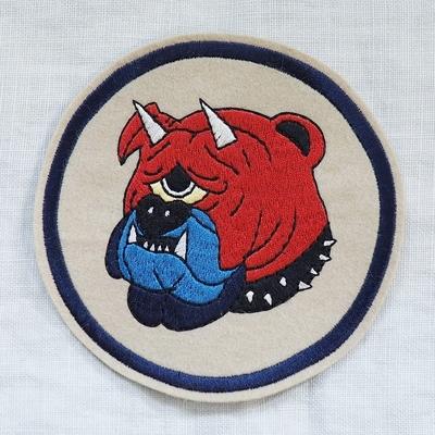"""フリーホイーラーズ カスタムパッチ """"DEVIL DOGS"""" サイズ:直径12cm"""