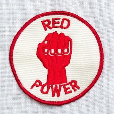 """フリーホイーラーズ カスタムパッチ """"RED POWER"""" サイズ:直径8cm"""