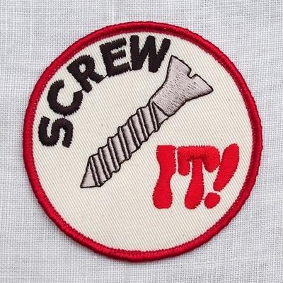 """フリーホイーラーズ カスタムパッチ """"SCREW IT!"""" サイズ:直径8cm"""