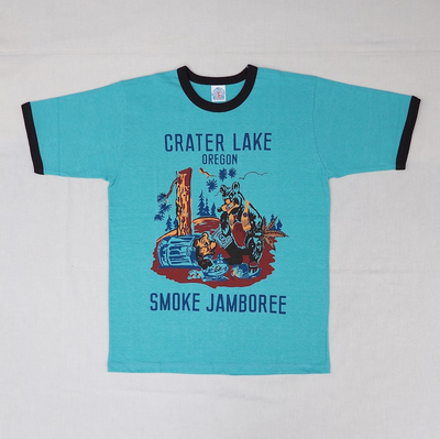 "ブートレガーズ Tシャツ ""CRATER LAKE SMOKE JAMBOREE"" SODA SAX×SHADY BLACK"