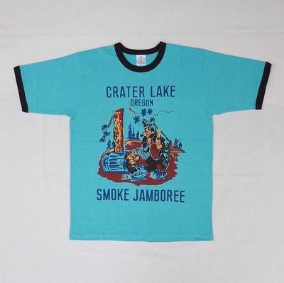 """ブートレガーズ Tシャツ """"CRATER LAKE SMOKE JAMBOREE"""" SODA SAX×SHADY BLACK"""