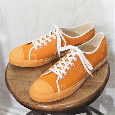 ダッパーズ LOT1403 ダッパーズ ブランド キャンバススニーカー ローカット オレンジ キャンバス