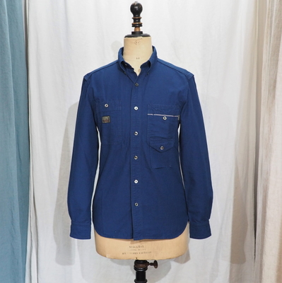 プラネットプラン 〈PSH-03〉インディゴ オックスフォード ボタンダウンシャツ