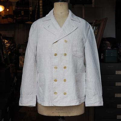 アジャスタブル コスチューム ヴィトー スタイル サマー ジャケット ナチュラル 40サイズ