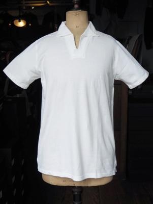 ジャンゴ アトゥール ボタンダウン ポロ シャツ ホワイト       Lサイズ