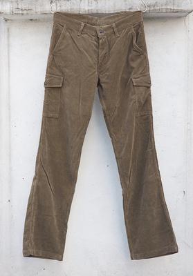 ウォークオン ブーツカット カーゴパンツ ブラウンコーデユロイ W.32