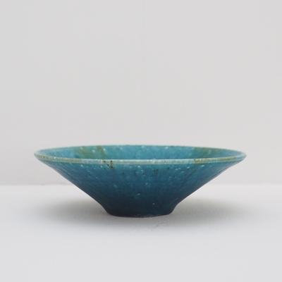 金澤尚宜 青の釉景 円錐皿