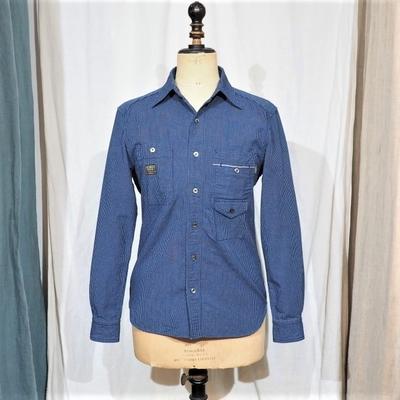 プラネットプラン 〈PSH-04〉オックスストライプ ロングカラーシャツ