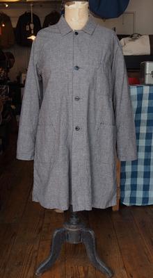 ジャンゴ アトゥール ギンガム アトリエ コート グレー×ブラック XSサイズ (やや大きめの作りですので、通常のS位のサイズ感です。)