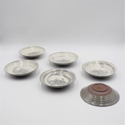 陶工房斿(ゆう) 刷毛目魚文皿