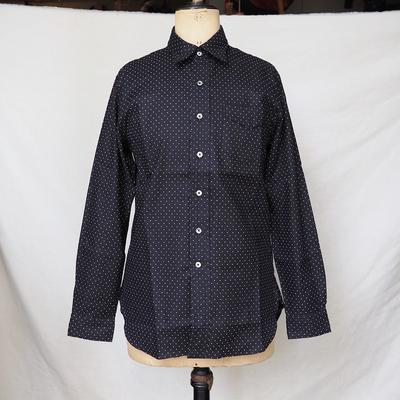 ジャンゴ アトゥール ドレス ドット シャツ<AL>  ブラック×ホワイト Mサイズ