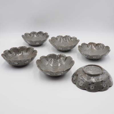 陶工房斿(ゆう) 輪花平鉢