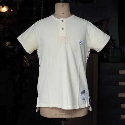 バーンストーマーズ フットボール オフィシャル スタイル 2ボタン クルーネック シャツ EGGNOG