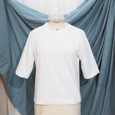 ホームスパン 6分袖 半袖Tシャツ サラシ