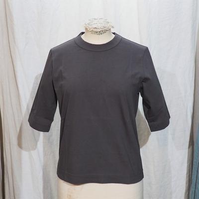 ホームスパン 6分袖 半袖Tシャツ グレー
