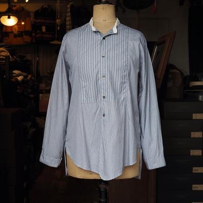 ジャンゴアトゥール アイリッシュワーカー ストライプシャツ <AL> type-2 (グレー系)